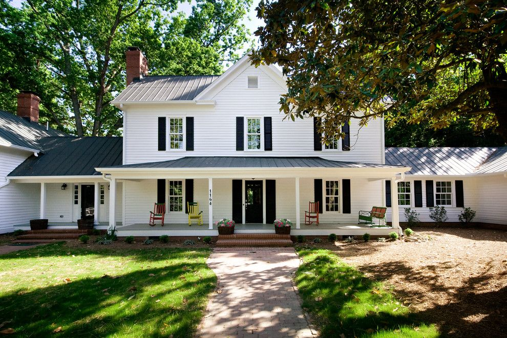 Nichols Hills Ok for a Farmhouse Exterior with a Rocking Chair and Paul Green Historic Home/chapel Hill, Nc/vacant Home Staging by Successful Staging/bobbie Mcgrath
