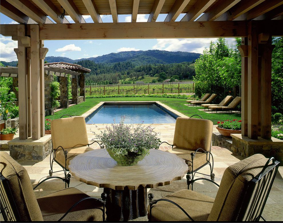 Nichols Hills Ok for a Farmhouse Porch with a Wine Vineyard and St. Helena Farmhouse by Sterling Huddleson Architecture