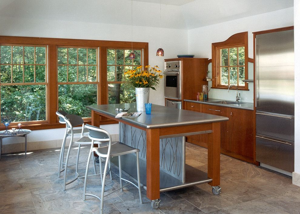 Nicolas De Stael for a Modern Kitchen with a Casters and Prides Pool House by Siemasko + Verbridge