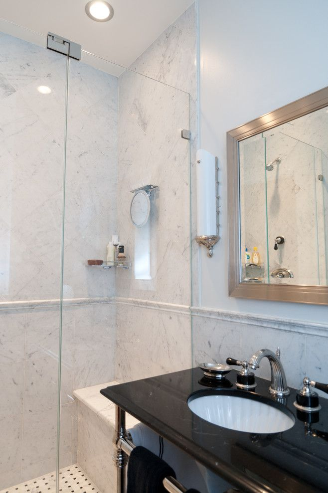 Nj License Restoration for a Traditional Bathroom with a Casing and Brownstone Gut Renovation   Restoration Park Avenue   Hoboken, Nj by Platinum Construction Llc