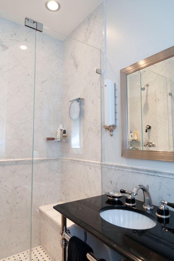 Nj License Restoration for a Traditional Bathroom with a Casing and Brownstone Gut Renovation   Restoration Park Avenue   Hoboken, Nj by Platinum Construction Llc