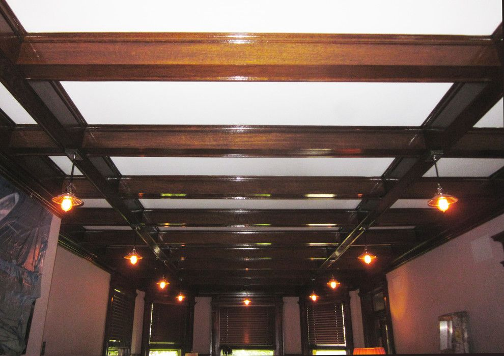 Nj License Restoration for a Traditional Dining Room with a Victorian Style and Montclair, Nj Victorian Dining Room Beam Conditioning by Ariana Hoffman: Ah & Co. Decorative Artisans