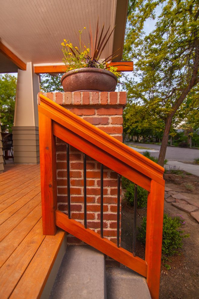 Norco Boise for a Craftsman Deck with a Warm Colors and Bohn Front Porch Addition by Ck Rogers Design. Build. Remodel.