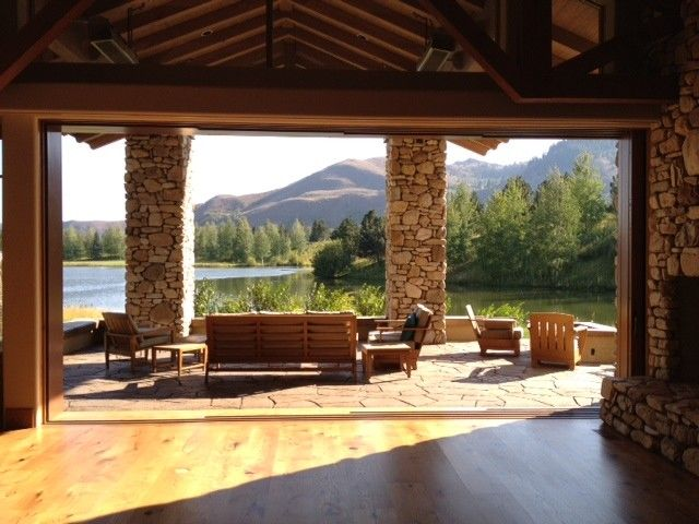 Norco Boise for a Traditional Patio with a Lift and Slide Door System and Ketchum, Id New Construction by View Point, Inc.