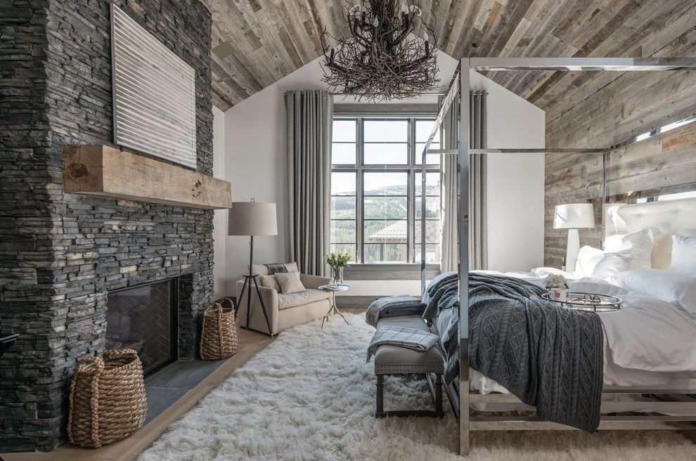 North Country Storage Barns for a Rustic Bedroom with a Rustic and Eldorado Stone 2017 by Eldorado Stone