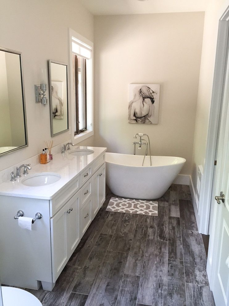 Northen for a Transitional Bathroom with a Holland Floor Coveringa and Arley by Arley Wholesale   Northern Bucks County