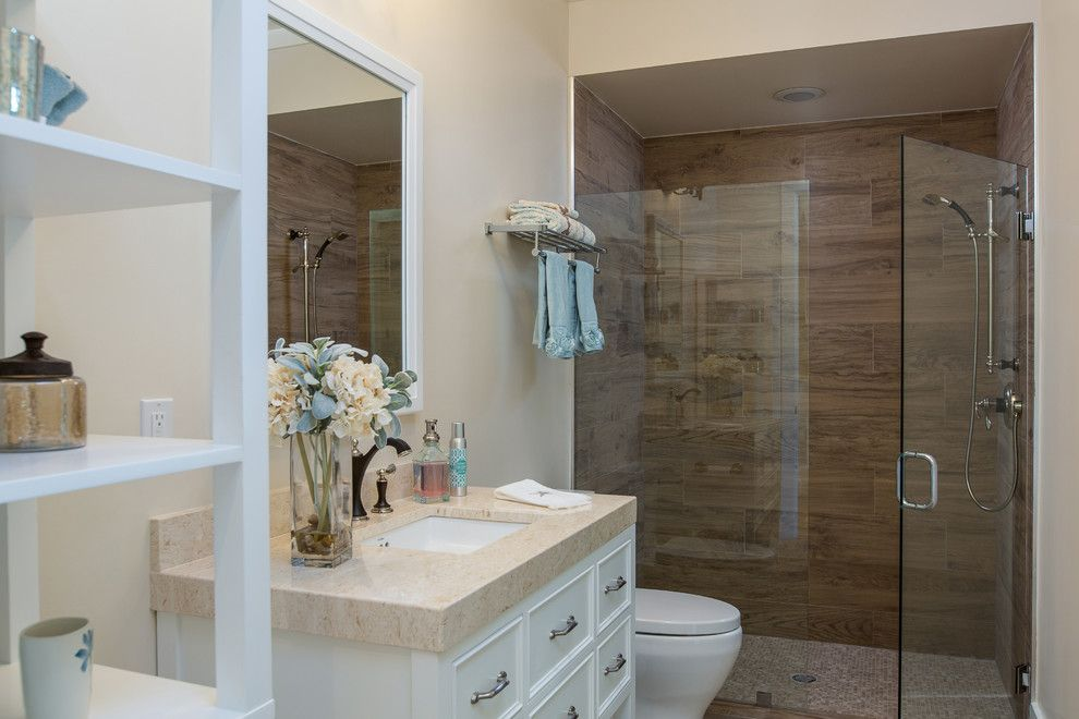 Northen for a Transitional Bathroom with a Home Builders Vero Beach and Stoney Brook Farm Model Home/Luxurious Secondary Bathrooms Standard by Suncor Communities