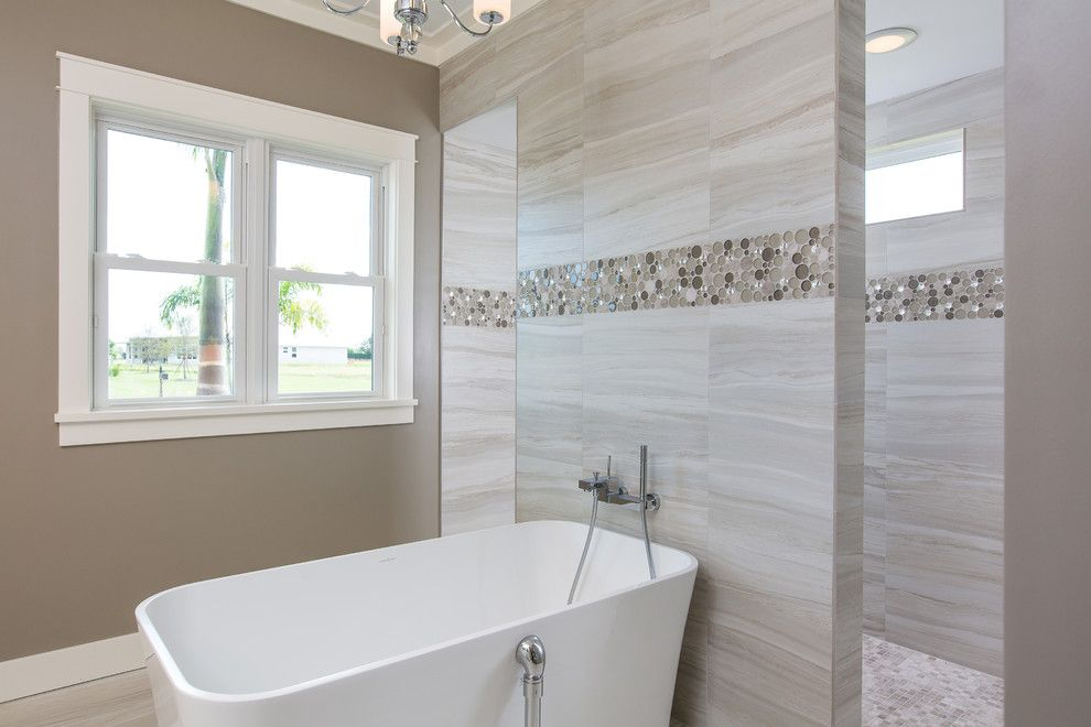 Northen for a Transitional Bathroom with a New Home Vero Beach and Stoney Brook Farm Model Home/Luxurious Master Bath Standard by Suncor Communities