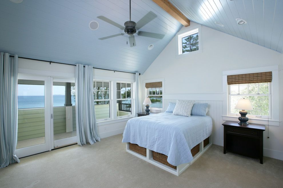 Northport Water for a  Bedroom with a Bedroom and Northport Timberframe by Francesca Owings Interior Design