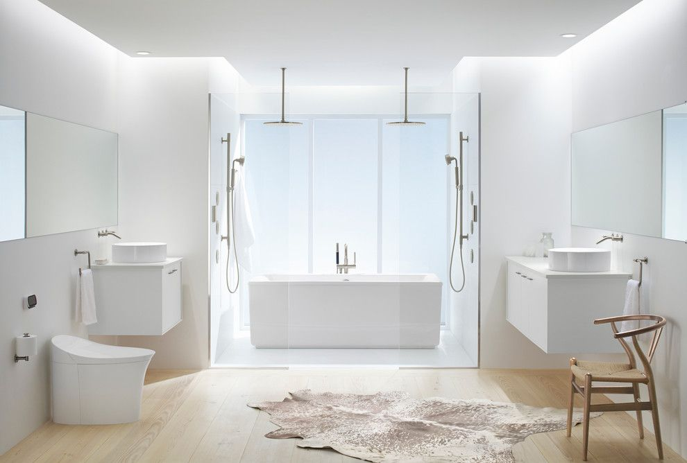 Northport Water for a Modern Bathroom with a Double Shower and Kohler by Kohler