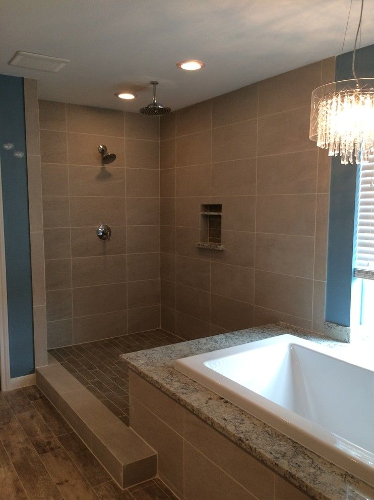 Northstar Construction for a  Bathroom with a Bathtubs and Blue Bath by Northstar Construction