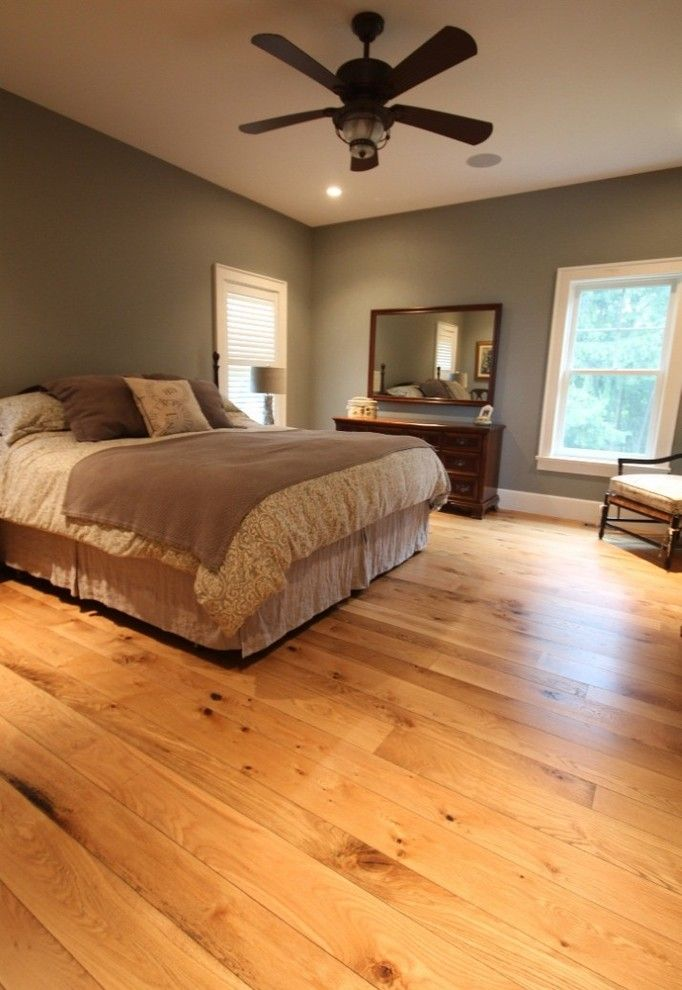 Norwich Discount Oil for a Contemporary Bedroom with a Hardwood Flooring Sale and Rustic White Oak Flooring Bedroom by Breezewood Floors