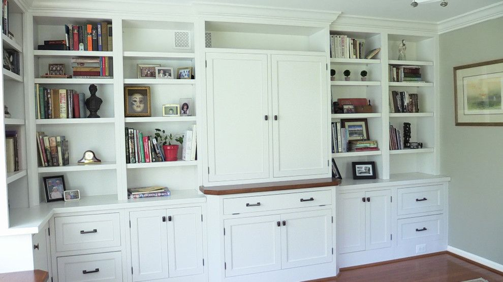 Norwich Discount Oil for a Traditional Family Room with a Library and Inset Wabash Door   Special Project by Brighton Cabinetry