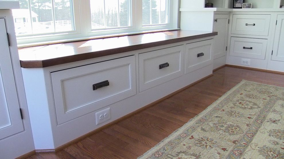Norwich Discount Oil for a Traditional Family Room with a Painted Wood and Inset Wabash Door   Special Project by Brighton Cabinetry