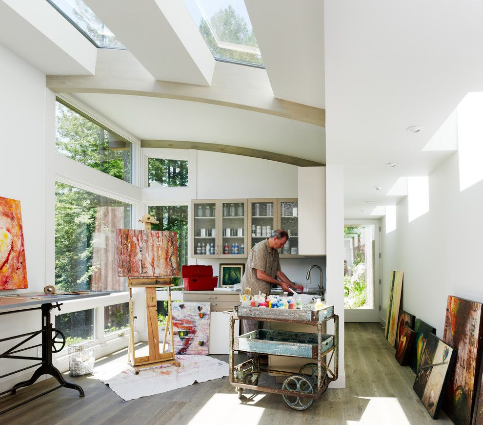 Nwnatural for a Contemporary Home Office with a Workshop and Contemporary Home Office by Feldmanarchitecture.com