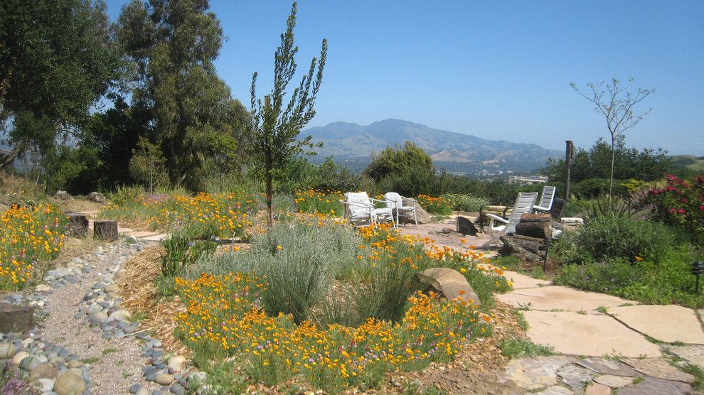 Nwnatural for a Eclectic Landscape with a California Poppy and Dry Creek by Golden Associates, Landscape Architects