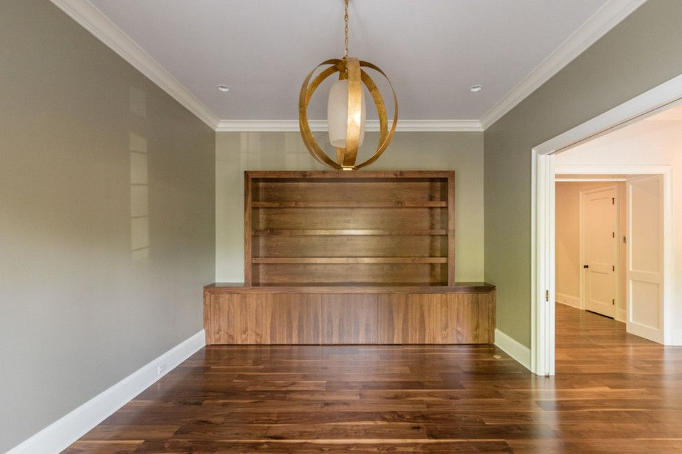 Oaks of Denton for a Transitional Dining Room with a Modern Home and Charlotte, Nc American Black Walnut Flooring by Oak & Broad