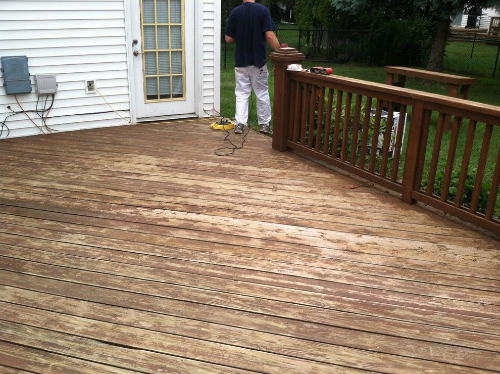 Oasis Ann Arbor for a Traditional Deck with a Red Solid Stain Finish the Preparation Entailed Lots of S and Deck Restoration W/red Solid Stain by Ann Arbor Painting