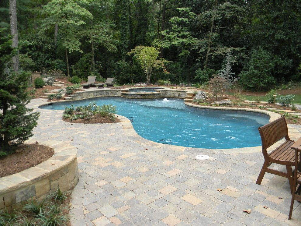 Oasis Spa Atlanta for a Transitional Pool with a Freeform Swimming Pool Designs and Outdoor Oasis by Watercolors Custom Pools, Llc