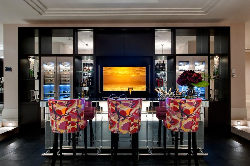 Oblivion Tom Cruise for a Contemporary Home Bar with a Drinks Cabinet and Hill House Interiors   St Georges Hill by the Art of Bespoke