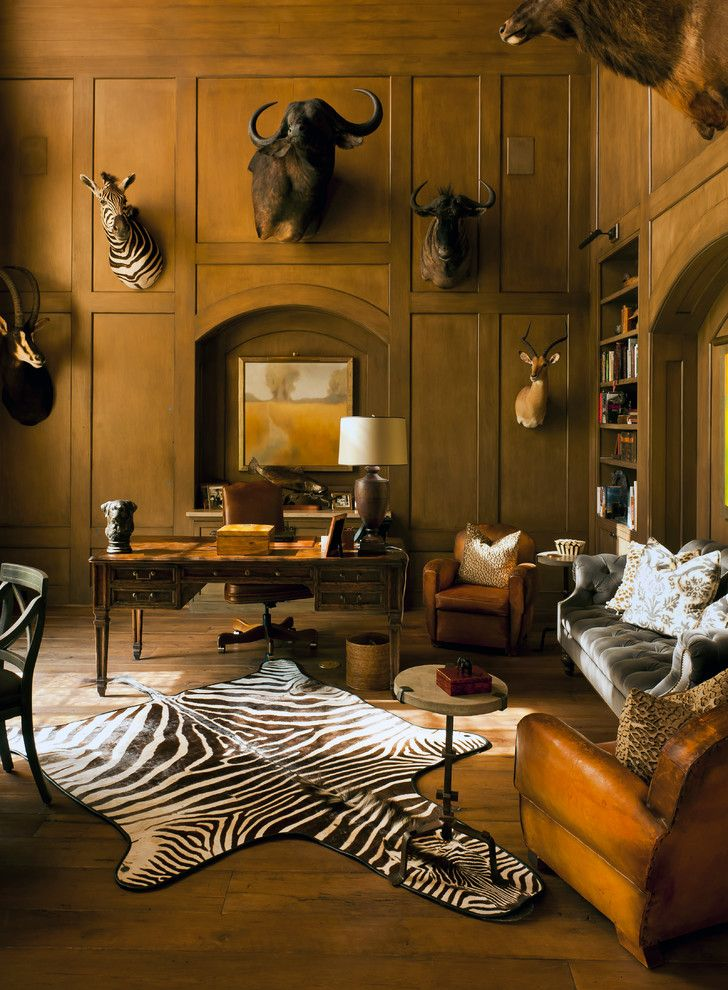 Oblivion Tom Cruise for a Traditional Home Office with a Dark Wood Desk and Longwoods by Thompson Custom Homes