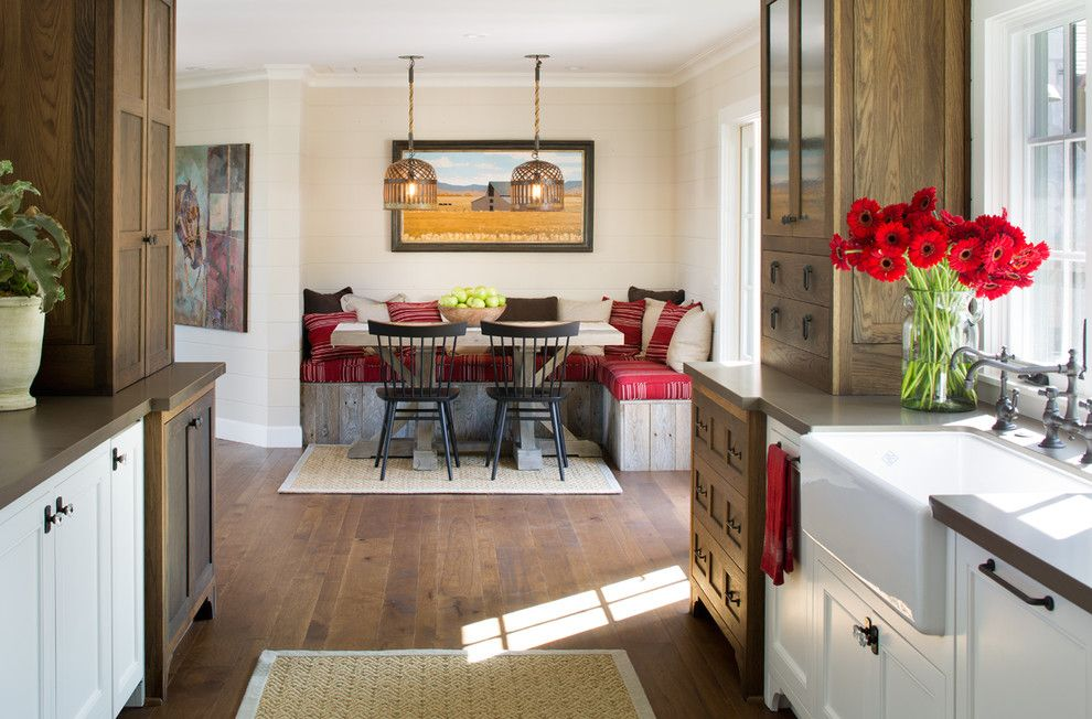 Odyssey House Utah for a Farmhouse Kitchen with a Wood Chandelier and Coastal Ranch by Anne Sneed Architectural Interiors
