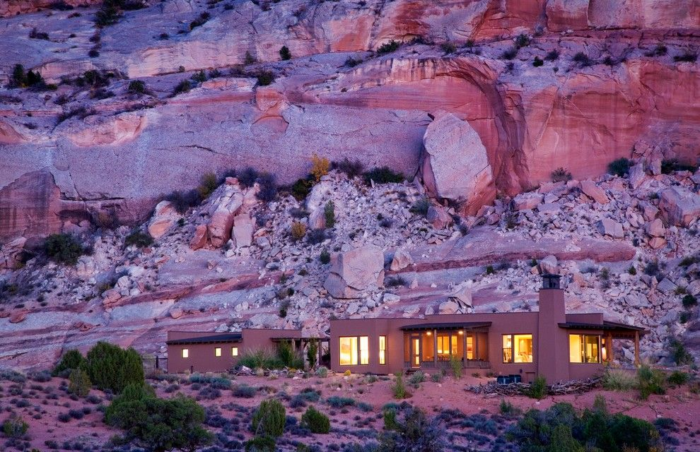 Odyssey House Utah for a Southwestern Exterior with a Vacation Home and Moab Utah Vacation Home by Karen White Interior Design