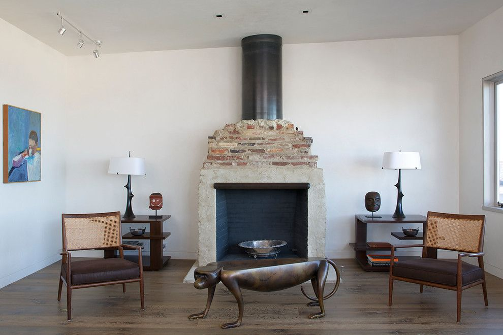 Ohio Points of Interest for a Contemporary Living Room with a Wood Floor and a Wurster Revival by Butler Armsden Architects