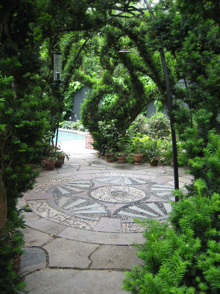Ohio Points of Interest for a Traditional Landscape with a Arbor and Transitions: Pathways, Landings & Steps by Gregory Lombardi Design