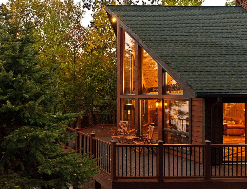 Ole Miss Housing for a Rustic Exterior with a Deck and Cabin Remodel by Bercher Design & Construction