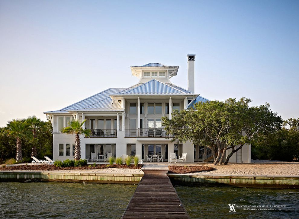 Ono Island for a Contemporary Exterior with a Stainless Steel Cable Deck Rail and Ono Island Retreat by Walcott Adams Verneuille Architects