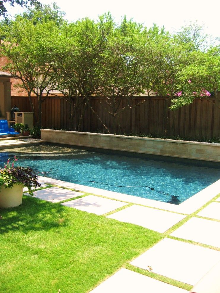 Onyx Dallas for a Contemporary Pool with a Stepping Stone and Swimming Pool Remodel by Ohlenburg Inc