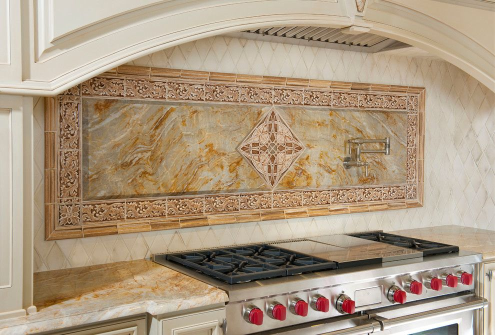 Onyx Dallas for a Traditional Kitchen with a Potfiller and French Elegance by Avid Associates Llc