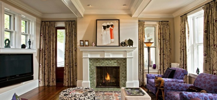 Onyx Dallas for a Traditional Living Room with a White Fireplace Mantel and Changing History by Teakwood Builders, Inc.