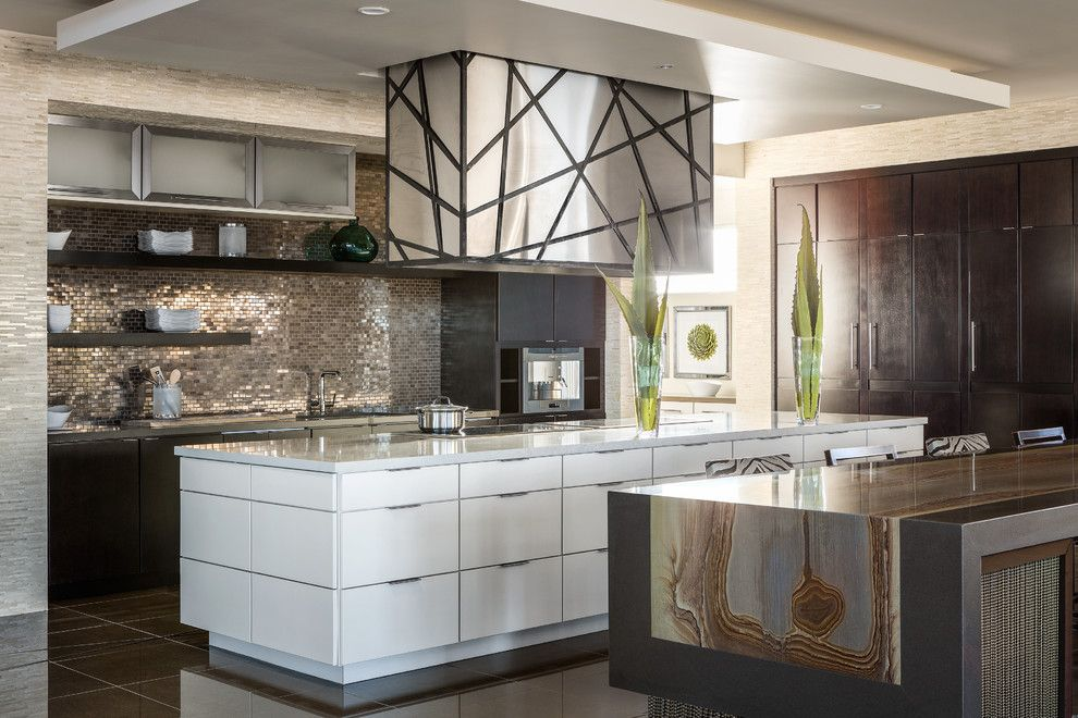 Onyx Houston for a  Kitchen with a Floating Shelves and Thermador by Thermador Home Appliances