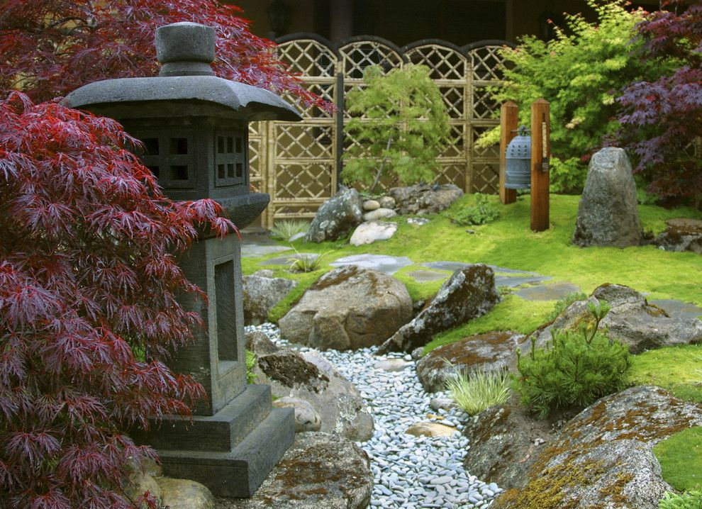 Opal Santa Barbara for a Asian Landscape with a Boulder Stream and Grace Design Associates by Margie Grace   Grace Design Associates