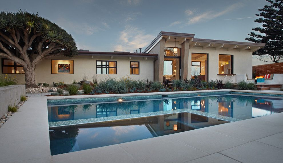 Opal Santa Barbara for a Contemporary Pool with a Step Stone Pavers and Ocean Bluff Winner Santa Barbara Beautiful 2013 by Margie Grace   Grace Design Associates
