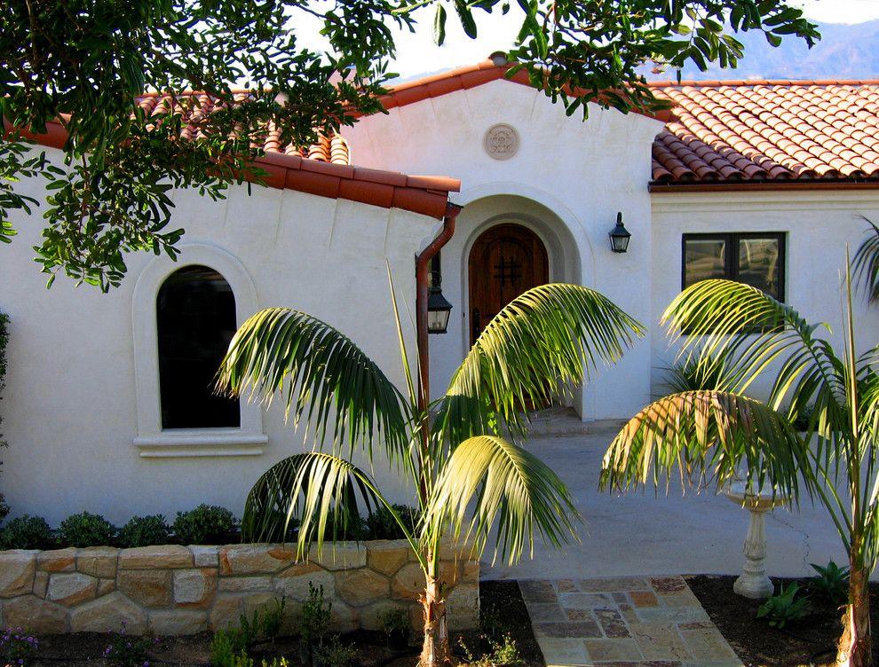 Opal Santa Barbara for a Mediterranean Exterior with a Small Spanish with Tower Entry and Single Level Small Santa Barbara Spanish Home Designs by Santa Barbara Home Design