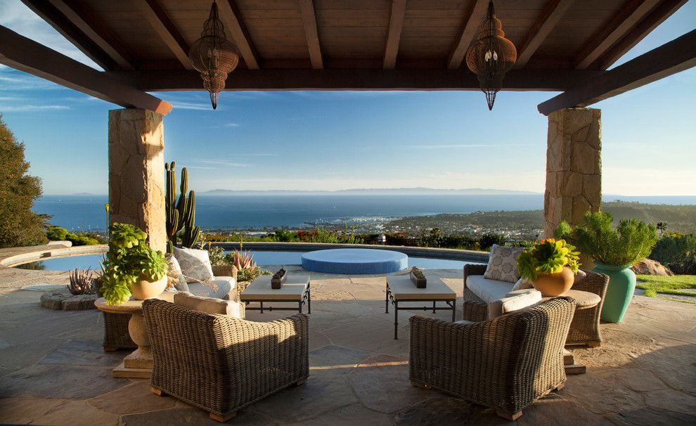 Opal Santa Barbara for a Mediterranean Patio with a Pool and Greene Residence by Designarc