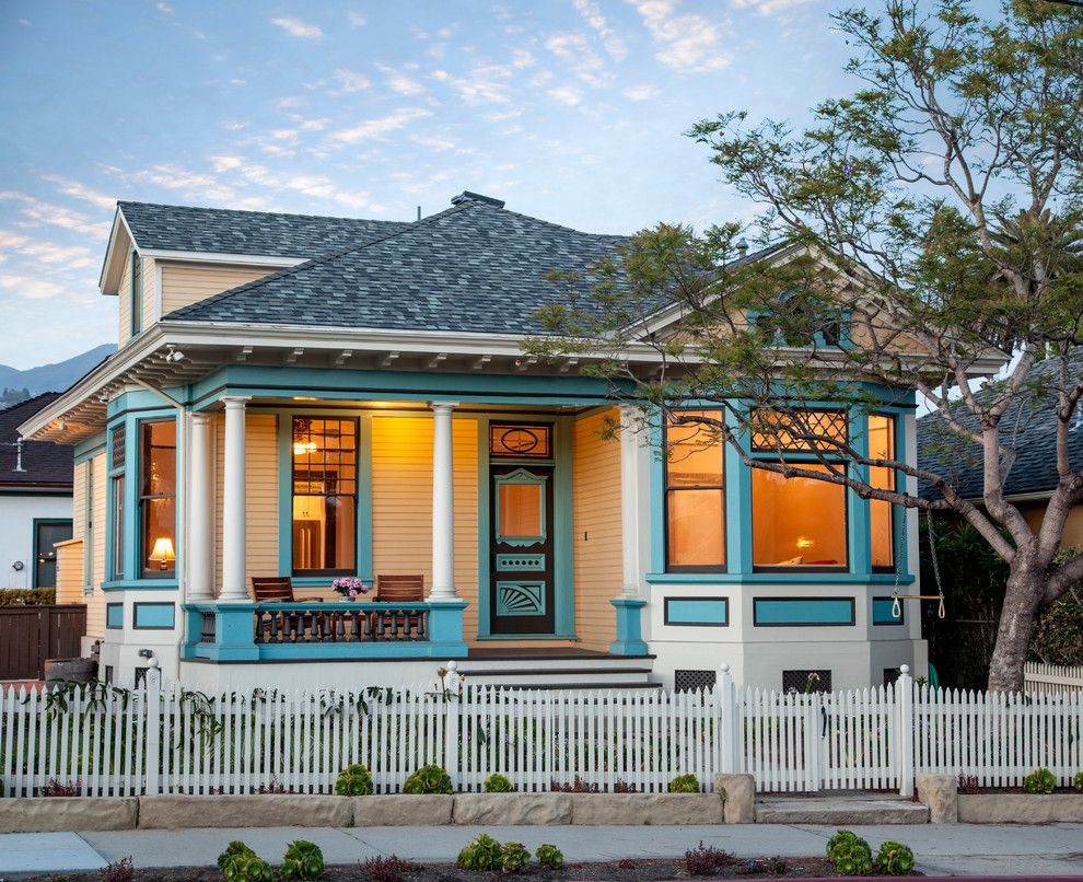 Opal Santa Barbara for a Victorian Exterior with a Inviting and Santa Barbara Downtown, 1920's Queen Anne Remodel, Garden Street Residence by Thompson Naylor Architects Inc