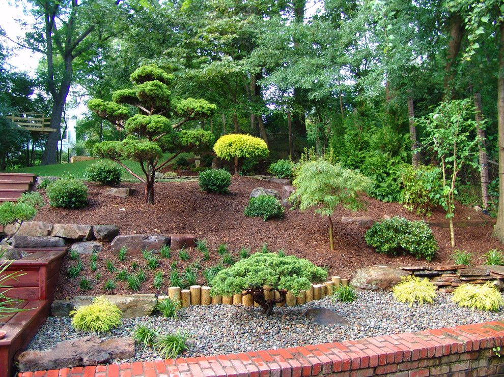 Oregon Decorative Rock for a Asian Landscape with a Shrubs and Landscape Design and Installation by Lee's Oriental Landscape Art