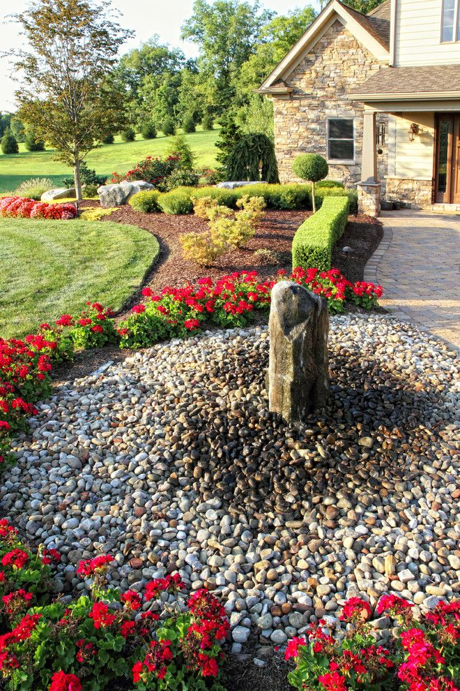 Oregon Decorative Rock for a Traditional Landscape with a Brick Pavers and Outdoor Living Projects by Beall's Nursery & Landscaping