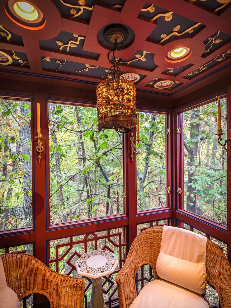 Oriental Express Austin for a Asian Porch with a Screens and Classical Asian by Mglm Architects