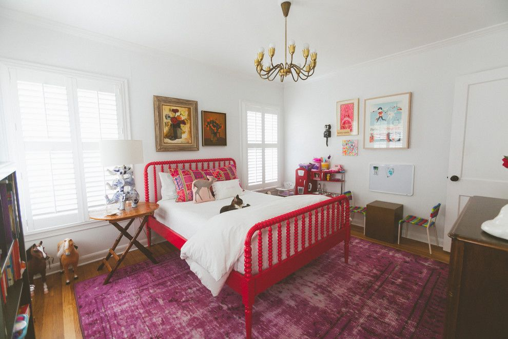 Oriental Express Austin for a Eclectic Bedroom with a Seating Area and My Houzz: Austin Family Breathes Life Into an Old Home by Heather Banks