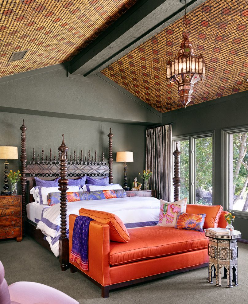 Oriental Express Austin for a Mediterranean Bedroom with a Four Poster Bed and Austin Transitional Home by the Ancon Group