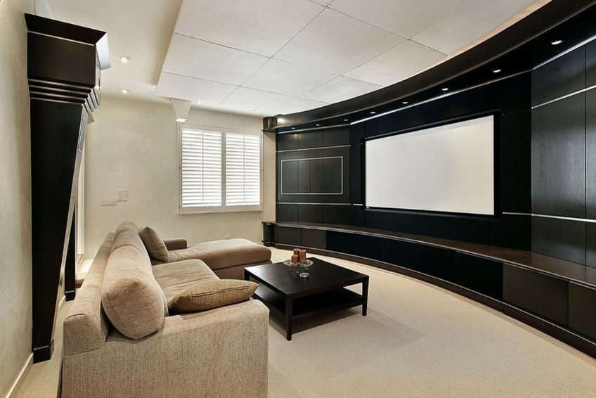Orland Park Theater for a Contemporary Spaces with a Home Theater and Home Theater by Park Cities Audio Video
