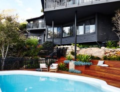 Outdoor Basketball Courts Near Me for a Asian Pool with a Railing and Castlecrag House by Jeff Karskens Designer