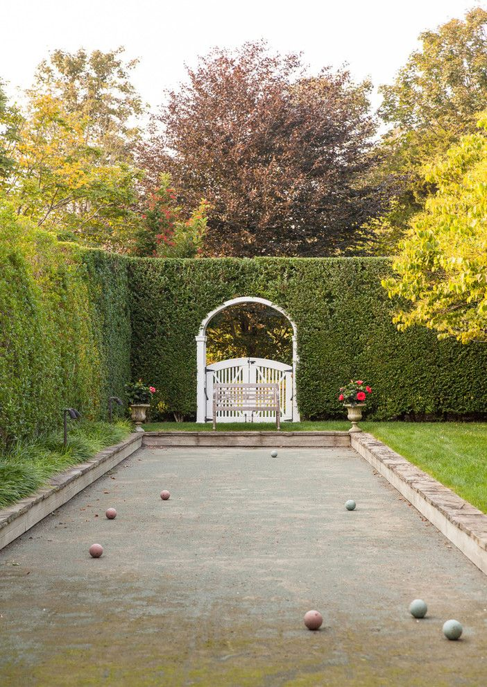 Outdoor Basketball Courts Near Me for a Traditional Landscape with a Landscaping and House on Long Island by Studio 511