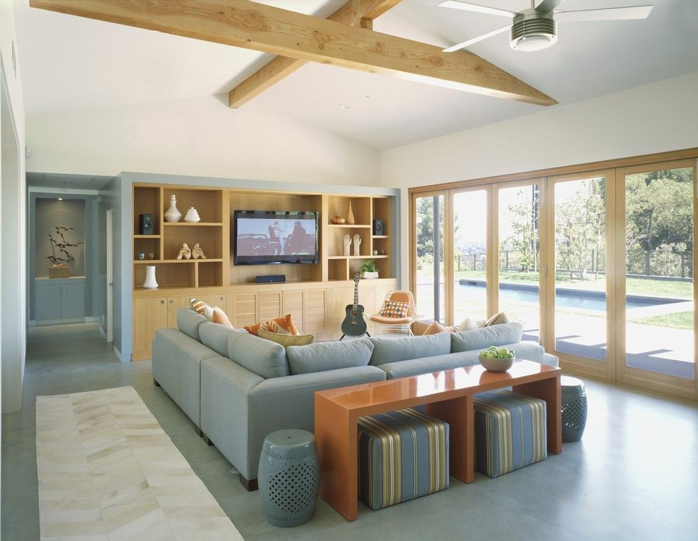 Outer Banks Furniture for a Contemporary Living Room with a Midcentury Modern and Award Winning Mid Century Modern by Gus Duffy Aia