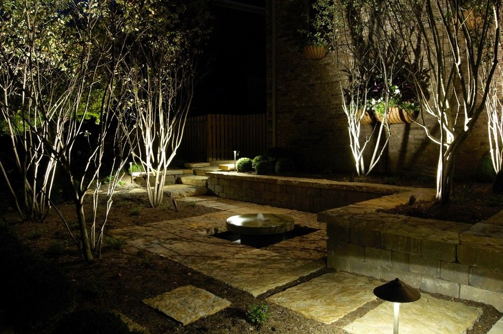 Overstock Lexington Ky for a Contemporary Landscape with a Outdoor Lighting of Stone Patio with a M and Lexington, Ky by Red Oak Outdoor Lighting